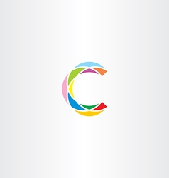 Colorful logo letter c logotype c sign icon vector