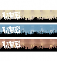 concert banners vector image vector image