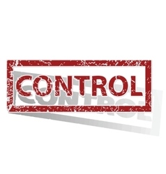 Control outlined stamp vector