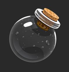 empty bottle game icon of magic elixir interface vector image