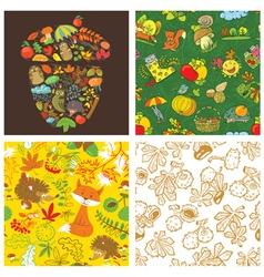 Fall season set vector image