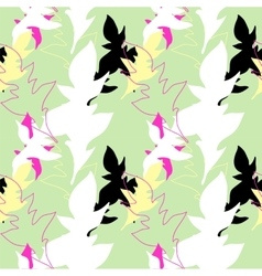 Floral seamless pattern with colorful leaves vector image