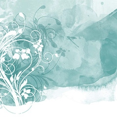 floral watercolour design 0801 vector image vector image