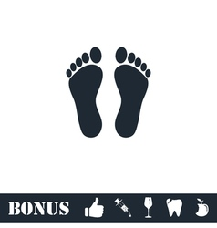 Footprint icon flat vector image vector image
