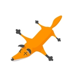Fox pelt cartoon icon vector