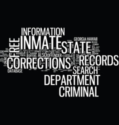 Free inmate criminal records text background word vector