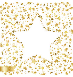 Golden falling stars on a white background vector
