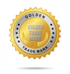 golden trade mark vector image