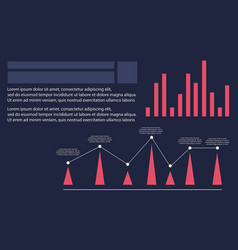 Graphic style business infographic collection vector
