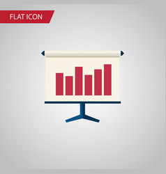 isolated easel flat icon graph element can vector image