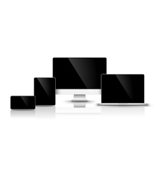 Modern black devices vector image vector image