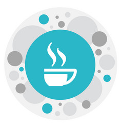 Of cook symbol on tea mug icon vector