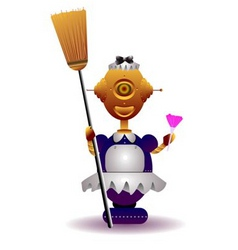 robot maid vector image vector image