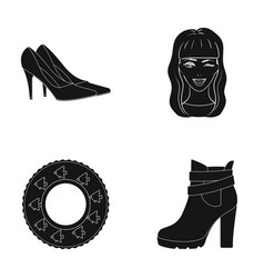 Shoe hairdresser textiles and other web icon in vector