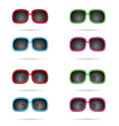 sunglasses colored wiyh eyes set vector image