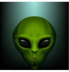 The alien portrait vector