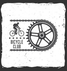 vintage typography design with cycling gear and vector image