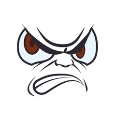Face angry expression cartoon icon graphic vector