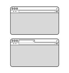 Opened browser window mockup past your content vector