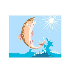 Trout Fish Retro vector image