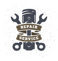 Piston and spanners hand drawn vector image