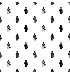 Man with briefcase pattern simple style vector