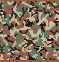 Syrian woodland camouflage seamless patterns vector