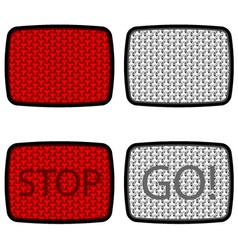 Bicycle reflectors red white vector