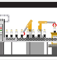 Machine factory line vector