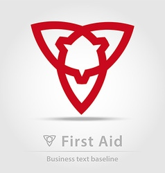 First aid business icon vector