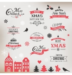 Christmas design collection typographic elements vector