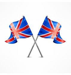Two british flag vector