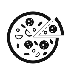 Pizza icon simple style vector