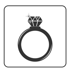 Diamond engagement ring icon 1 vector