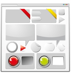 Collection of web elements vector image