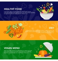 Vegetables flat isolated banner set vector