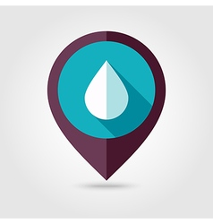 Water rain drop flat pin map icon weather vector