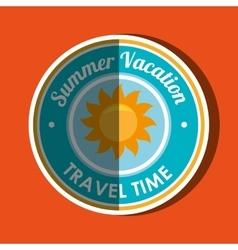 Travel vacations design vector