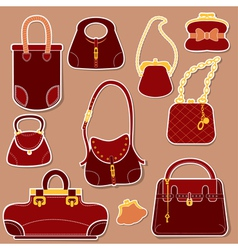 bag set 1 380 vector image vector image