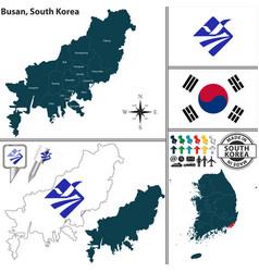 Busan metropolitan city south korea vector
