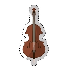 Cello instrument isolated icon vector