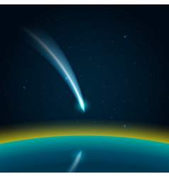 Comet in space vector image