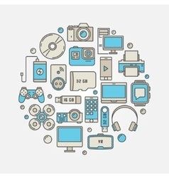 Consumer electronics and gadgets vector
