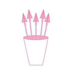 decorative arrows in cup boho style vector image vector image