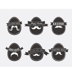 Easter vintage hipster eggs vector image vector image