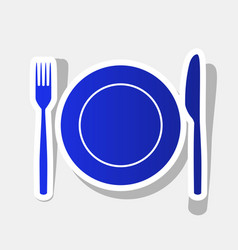Fork knife and plate sign new year vector