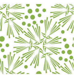 Green floral dandelion seamless pattern background vector