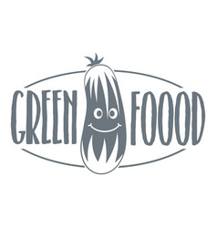 green food logo simple gray style vector image vector image