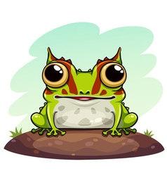 Horned frog cartoon vector image vector image