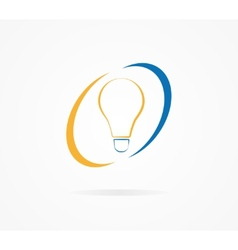 light lamp logo vector image